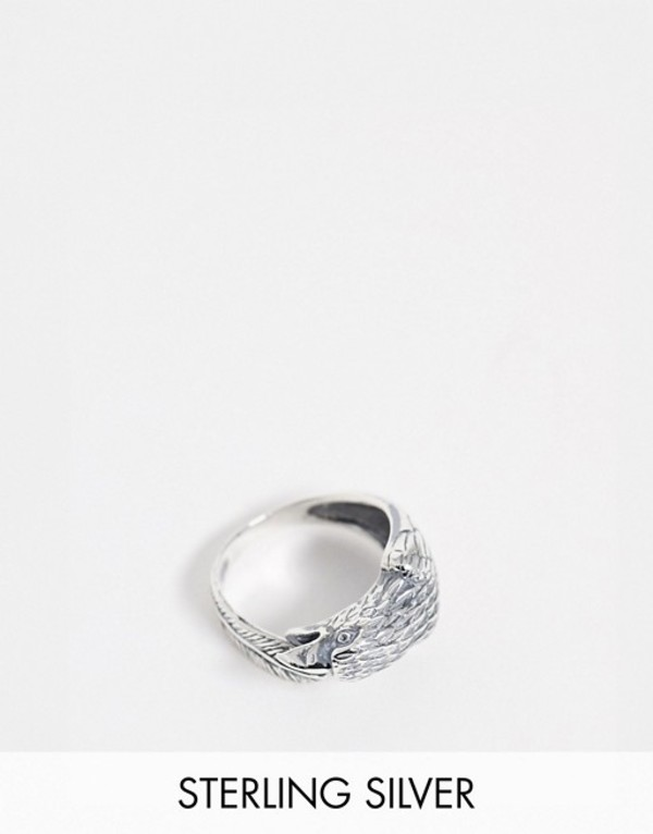 エイソス メンズ 指輪 アクセサリー ASOS DESIGN sterling silver wrap around eagle ring Silver