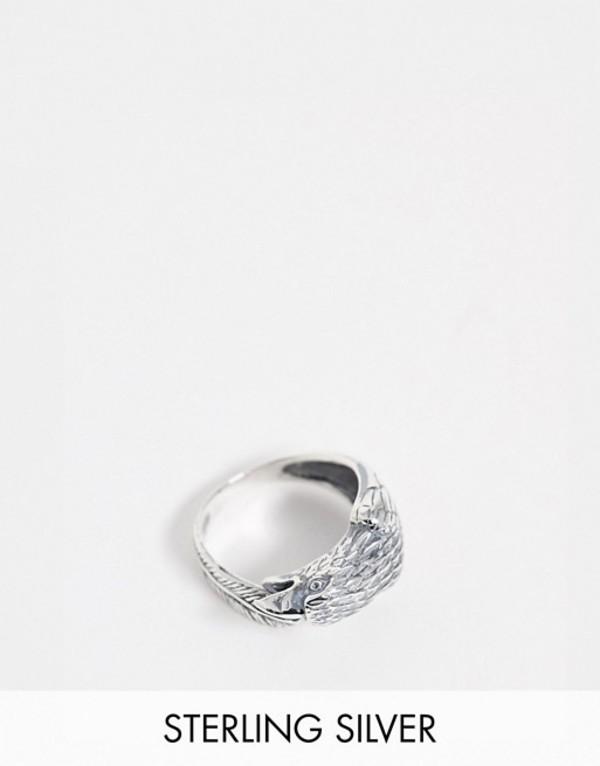 エイソス メンズ 指輪 アクセサリー ASOS DESIGN sterling silver wrap around eagle ring Silver