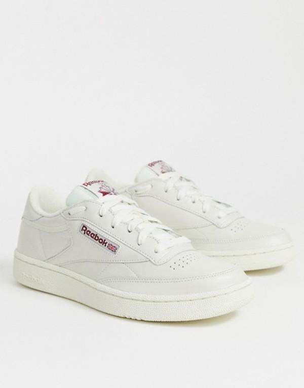 リーボック メンズ スニーカー シューズ Reebok vintage club c sneakers in white DV3895 White