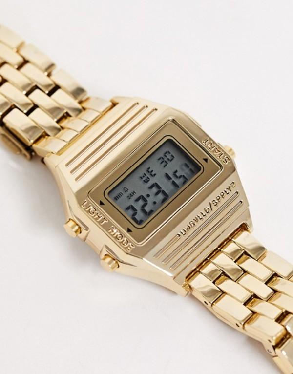 エイソス メンズ 腕時計 アクセサリー ASOS DESIGN digital bracelet watch in gold Gold