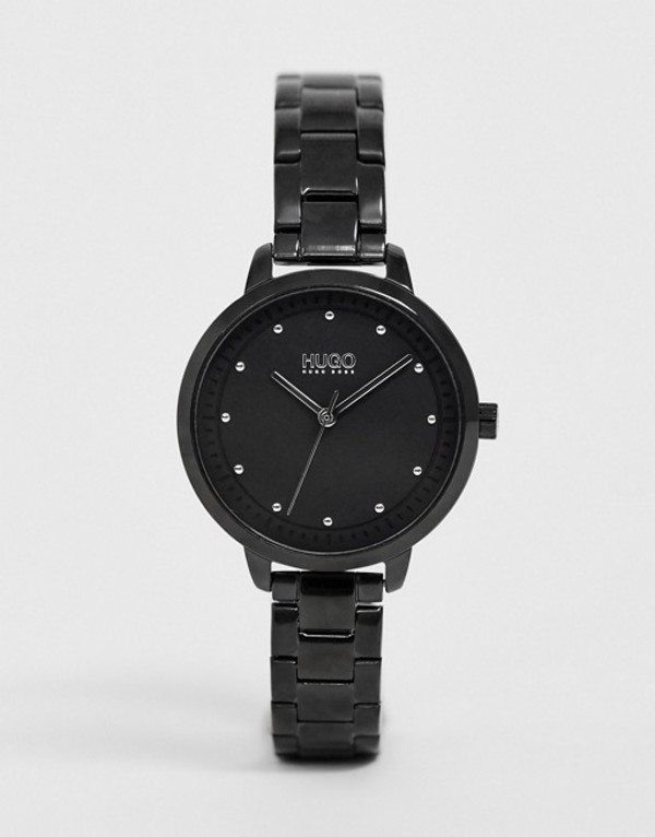 フューゴ レディース 腕時計 アクセサリー HUGO 1540038 Achieve bracelet watch in black 32mm Black