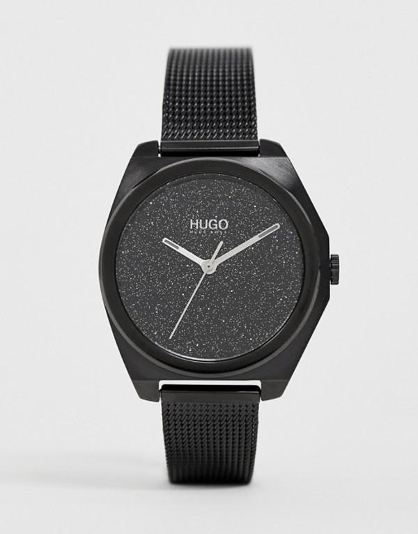 フューゴ レディース 腕時計 アクセサリー HUGO 1540026 Imagine mesh watch in black 35mm Black