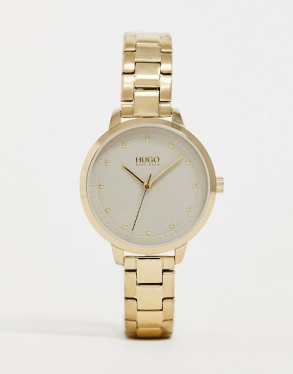 フューゴ レディース 腕時計 アクセサリー HUGO 1540039 Achieve bracelet watch in gold 32mm Gold