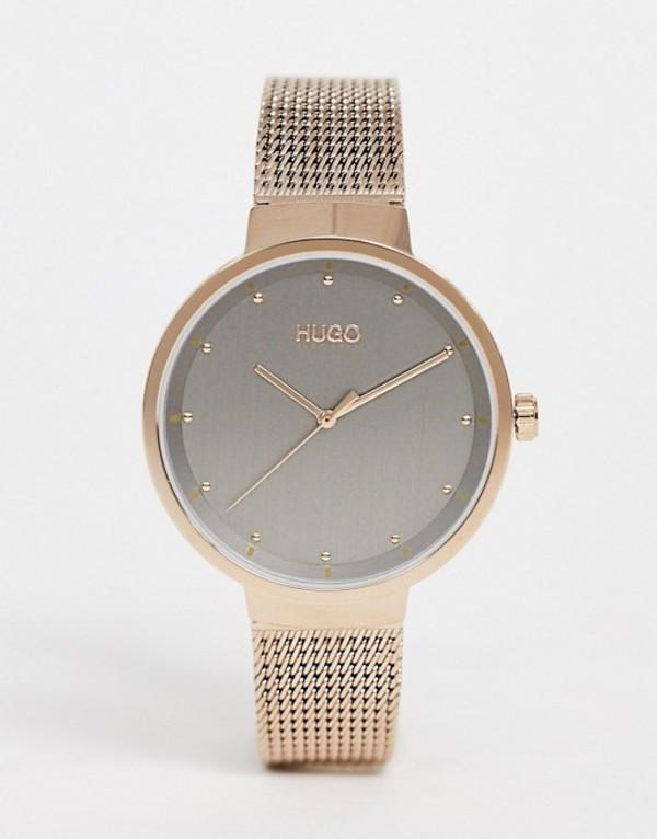 フューゴ レディース 腕時計 アクセサリー HUGO 1540004 Go mesh watch in gold 38mm Gold