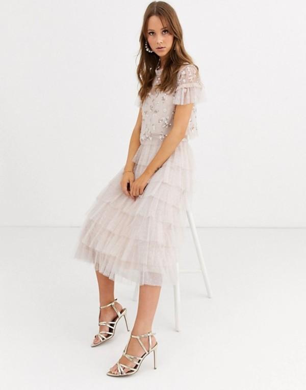 ニードルアンドスレッド レディース スカート ボトムス Needle & Thread tiered ruffle ballerina skirt in blush Blush