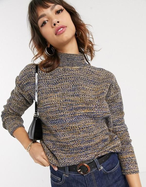 エスプリ レディース ニット・セーター アウター Esprit space dye high neck knitted sweater in multi Multi