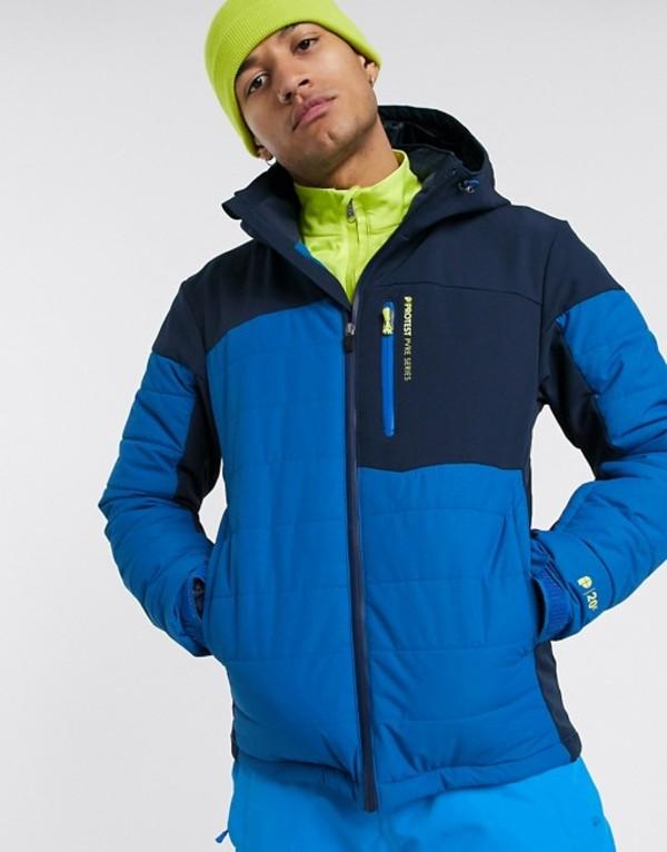 プロテスト メンズ ジャケット・ブルゾン アウター Protest Mount ski jacket in blue Blue