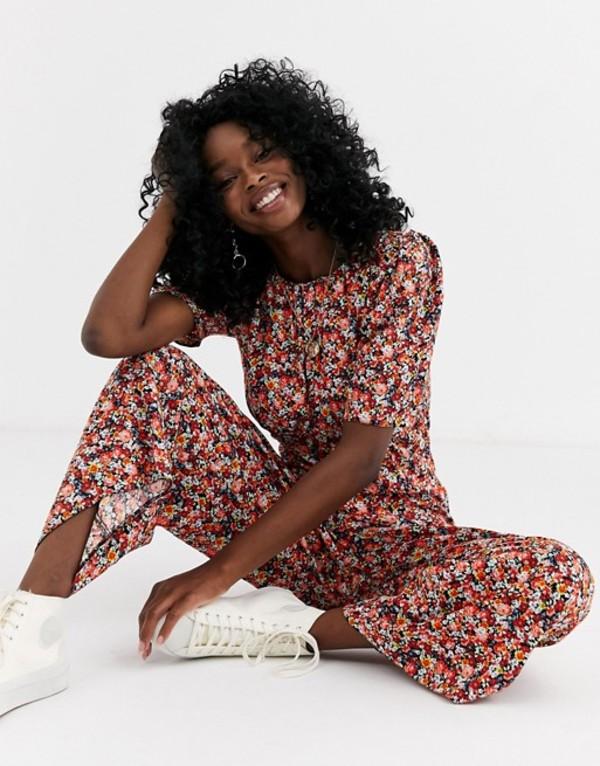 エイソス レディース ワンピース トップス ASOS DESIGN tea jumpsuit in ditsy floral print Mixed floral
