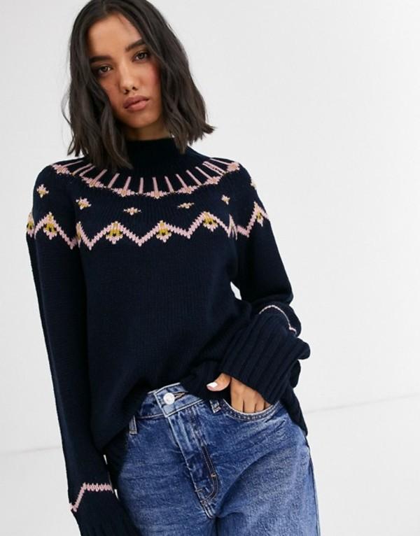 ホイッスルズ レディース ニット・セーター アウター Whistles chunky fairisle knit sweater Multi