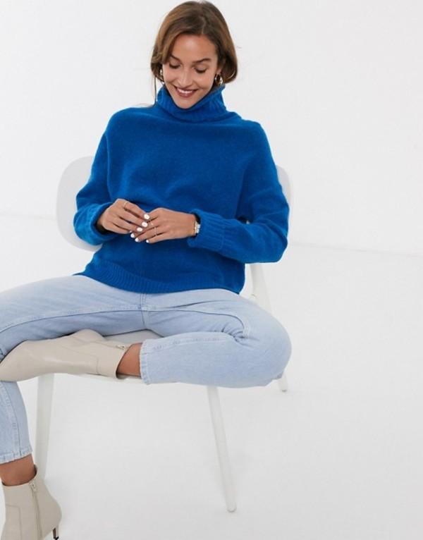 ホイッスルズ レディース ニット・セーター アウター Whistles oversized funnel neck sweater Blue