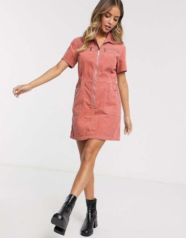 アーバンブリス レディース ワンピース トップス Urban Bliss shirt dress in cord Pink