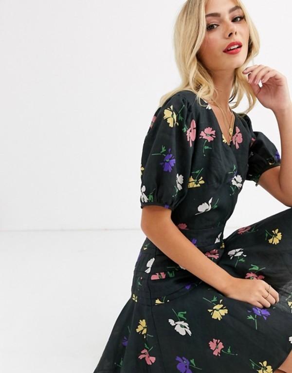 テルーラ レディース ワンピース トップス Talulah pinata floral mini dress with puff sleeves Francessca floral