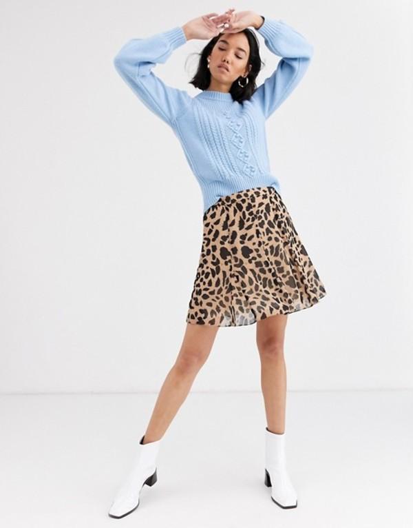 ホイッスルズ レディース スカート ボトムス Whistles brushed cheetah flippy skirt Leopard