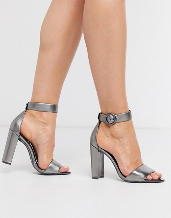 テッドベーカー レディース サンダル シューズ Ted Baker Secataa metallic heeled sandals Gunmetal