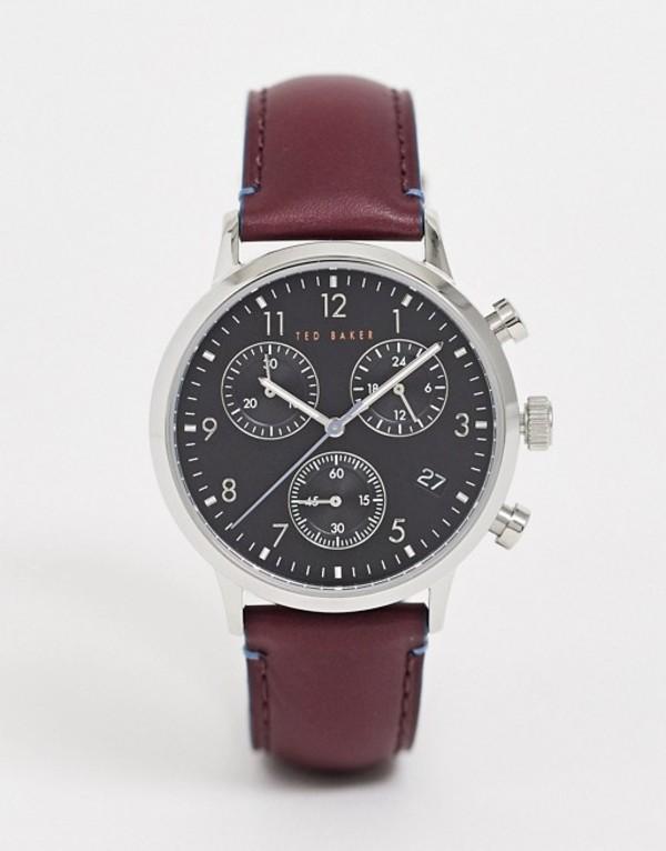 テッドベーカー メンズ 腕時計 アクセサリー Ted Baker Lngisla leather watch in brown 42mm Brown