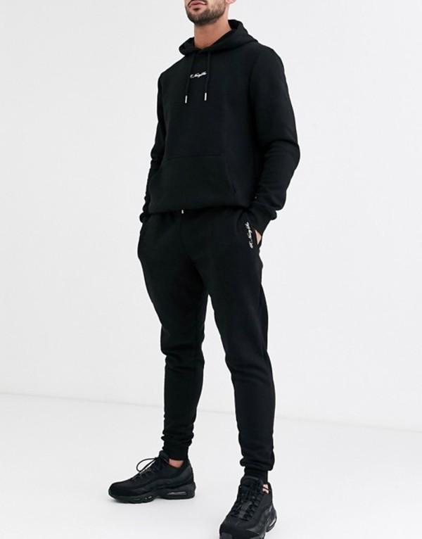 リバーアイランド メンズ カジュアルパンツ ボトムス River Island sweatpants in black Black