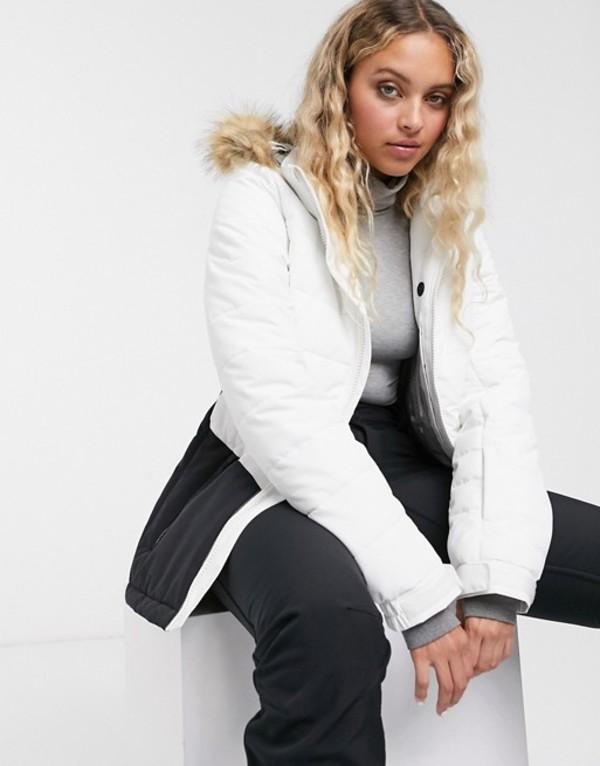 プロテスト レディース コート アウター Protest Fence jacket in white White