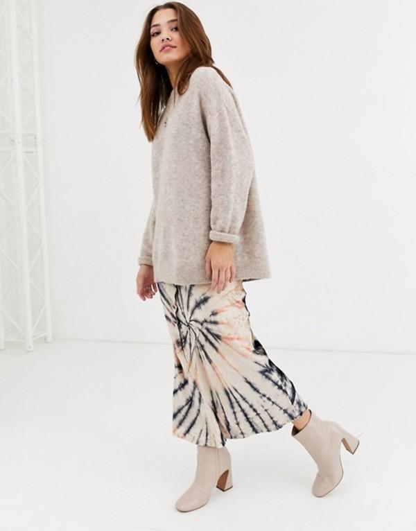 フリーピープル レディース スカート ボトムス Free People bali serious swagger tie dye skirt in velvet Multi