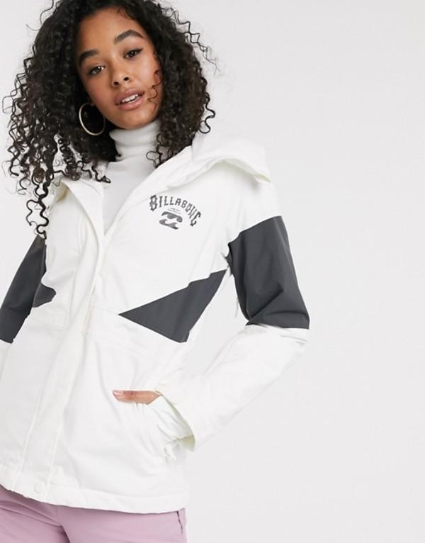ビラボン レディース ジャケット・ブルゾン アウター Billabong Say What ski jacket in white Snow