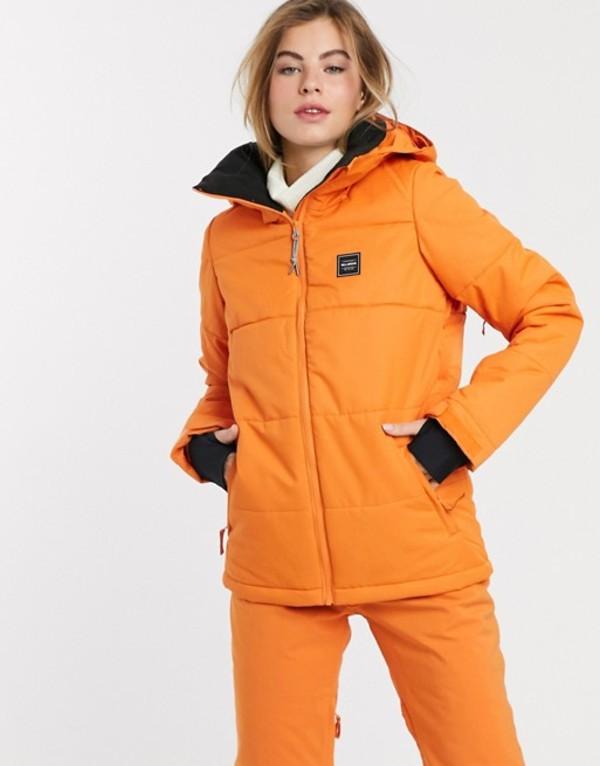 ビラボン レディース ジャケット・ブルゾン アウター Billabong Down Rider ski jacket in orange Orange