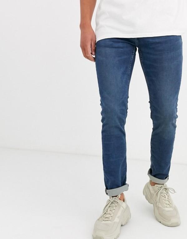 オンリーアンドサンズ メンズ デニムパンツ ボトムス Only & Sons slim fit mid wash blue jeans Blue denim