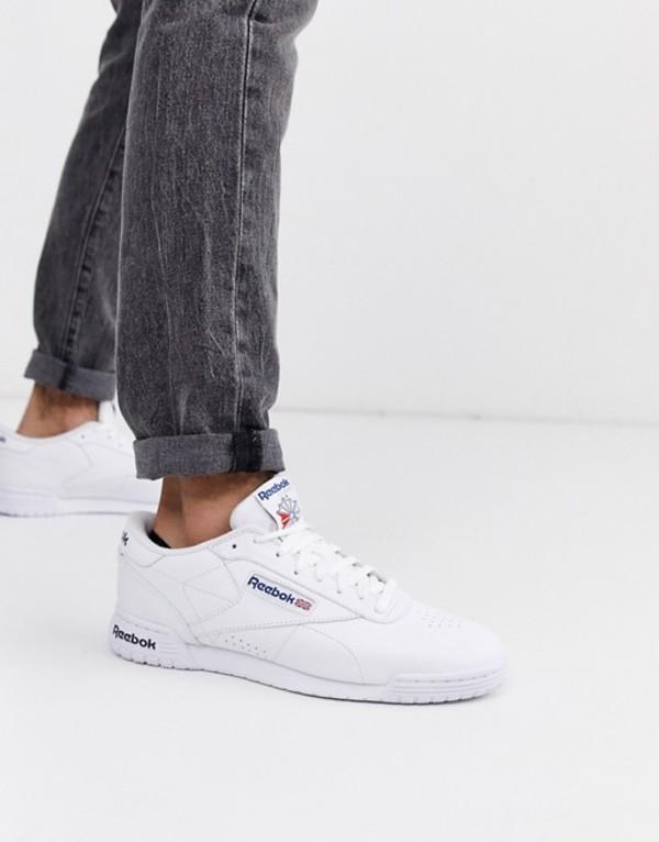 リーボック メンズ スニーカー シューズ Reebok Ex-o-fit leather sneakers in white ar3169 Wh1 - white 1