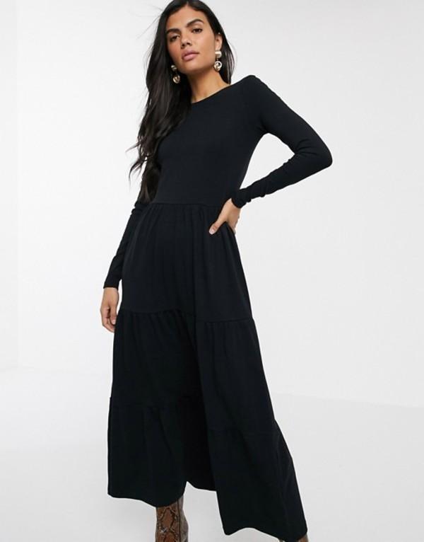 ウエアハウス レディース ワンピース トップス Warehouse tiered dress with scoop back in black Black