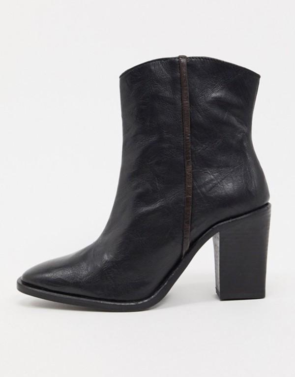 フリーピープル レディース ブーツ・レインブーツ シューズ Free People Barclay western ankle boots in black Black