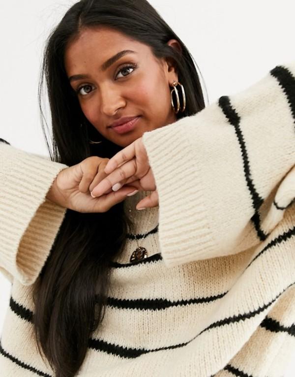ヴィラ レディース ニット・セーター アウター Vila stripe knitted sweater Multi