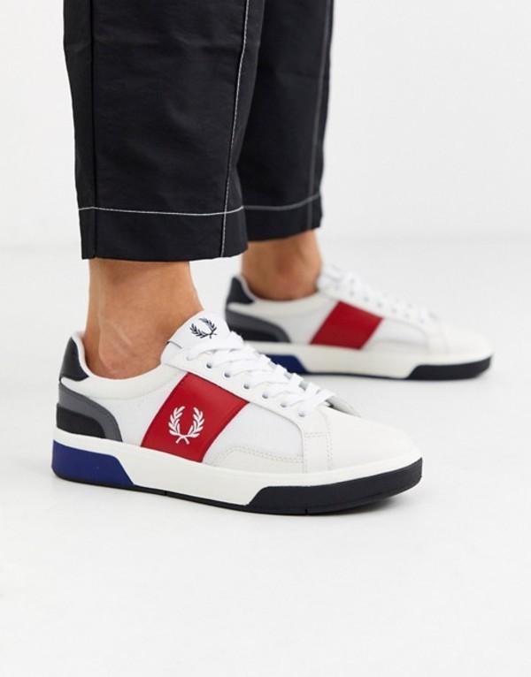 フレッドペリー レディース スニーカー シューズ Fred Perry b200 color block leather sneakers 303 snow white