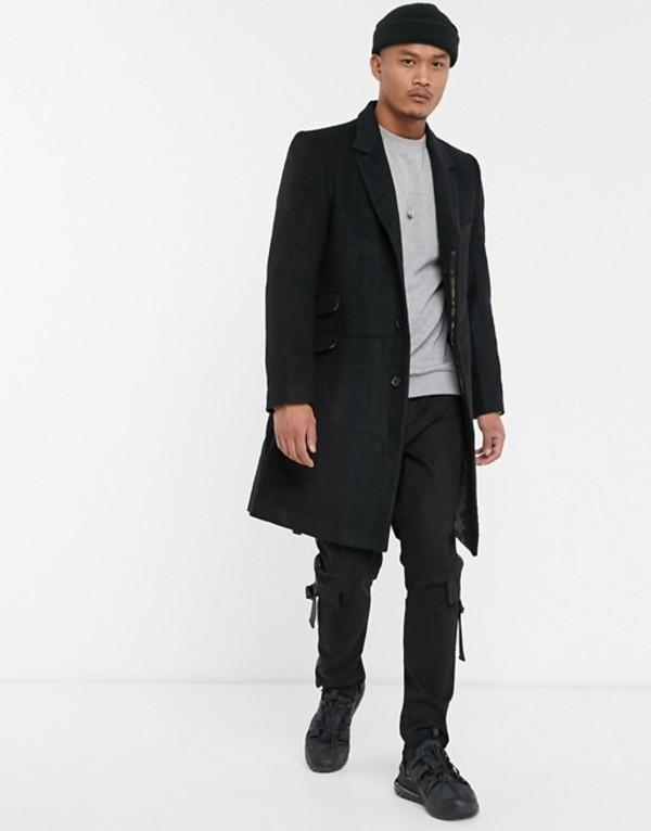 ボロンガロトレバー メンズ コート アウター Bolongaro Trevor pea coat Black