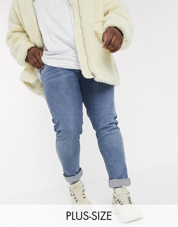 ボロンガロトレバー メンズ デニムパンツ ボトムス Bolongaro Trevor Plus skinny jeans in blue Blue