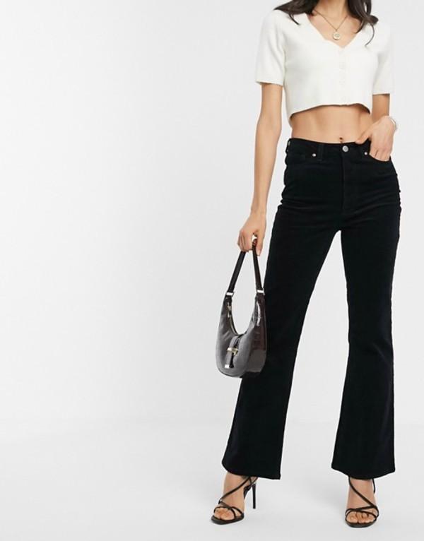 ウエアハウス レディース デニムパンツ ボトムス Warehouse corduroy flared pants in black Black