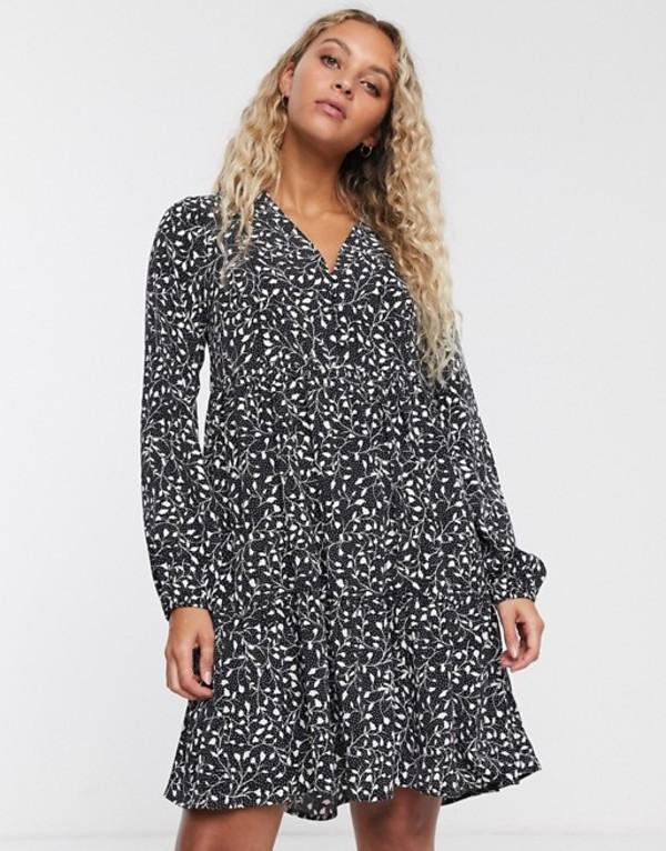 オンリー レディース ワンピース トップス Only mini smock dress in mono ditsy print Multi