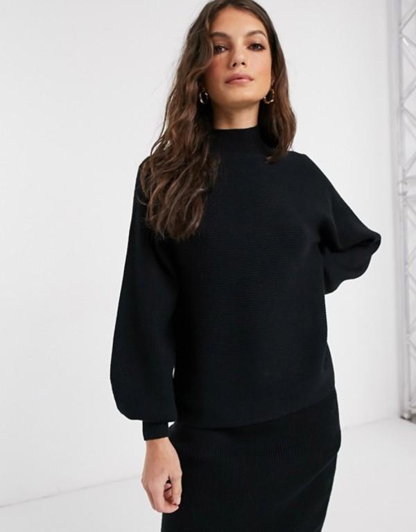 ヴィラ レディース ニット・セーター アウター Vila two-piece sweater with high neck in black Black