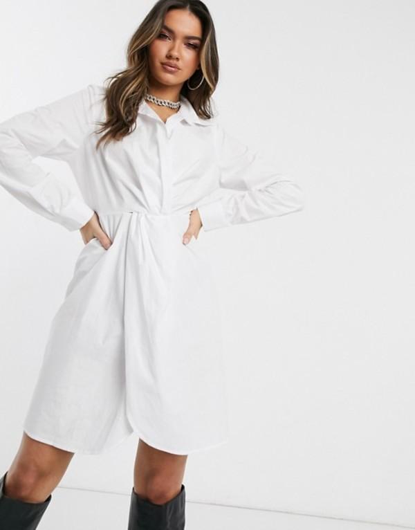 パブリックデザイア レディース ワンピース トップス Public Desire structured shirt dress in cotton White