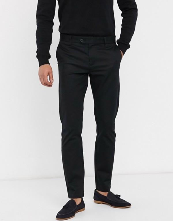 セレクテッドオム メンズ カジュアルパンツ ボトムス Selected Homme Carlo slim fit pants Black