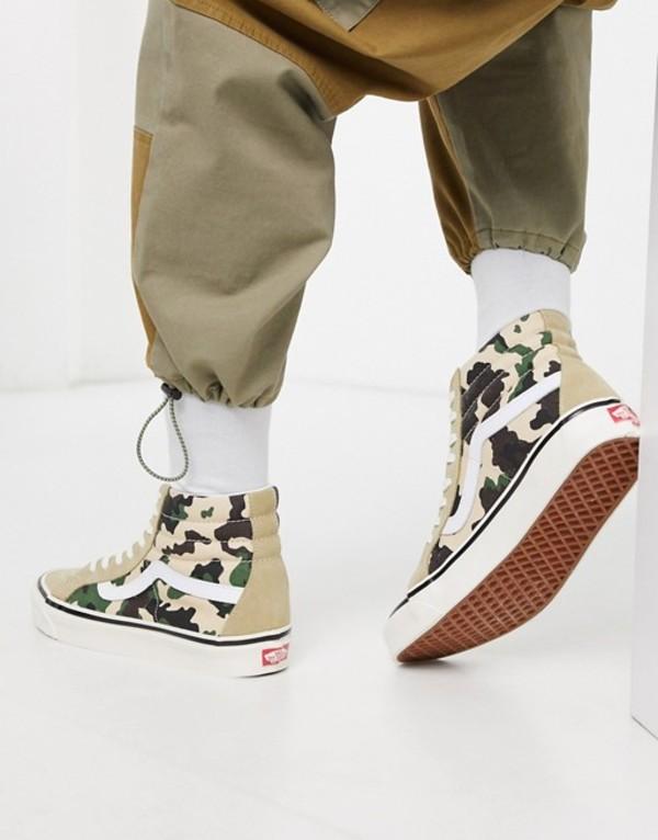 バンズ メンズ スニーカー シューズ Vans Anaheim SK8-Hi 38 DX sneakers in khaki camo (anaheim factory) og