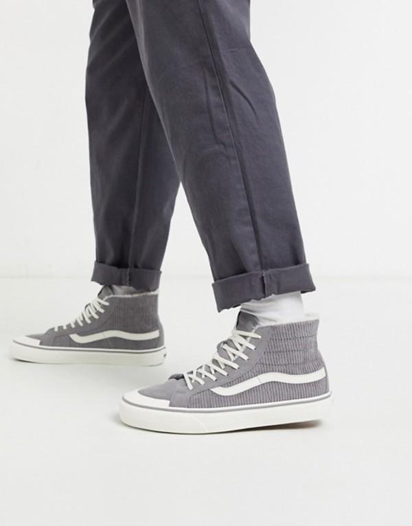 バンズ メンズ スニーカー シューズ Vans UA SK8-Hi 138 sneakers in gray (corduroy) frost gra