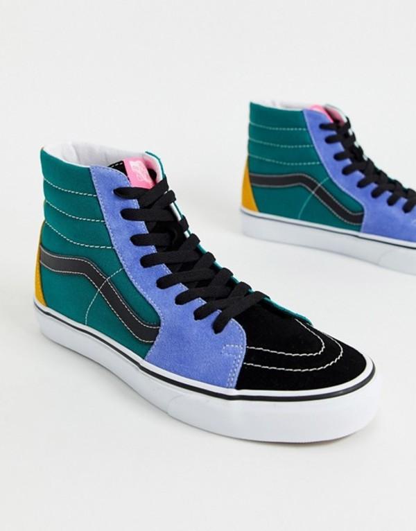 バンズ メンズ スニーカー シューズ Vans UA SK8-Hi sneakers in green multi (mix & match) cadmiu