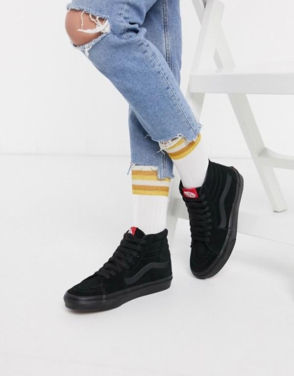 バンズ レディース スニーカー シューズ Vans SK8-Hi sneakers in black/black Black/black
