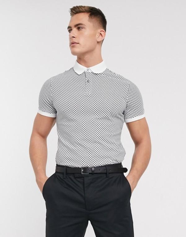 セレクテッドオム メンズ ポロシャツ トップス Selected Homme contrast collar polo with pocket in white Bright white