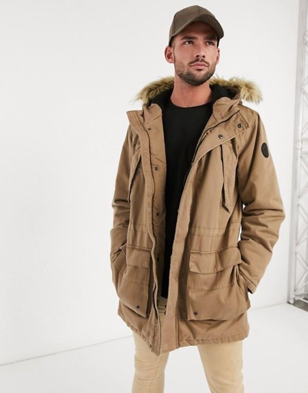 オンリーアンドサンズ メンズ コート アウター Only & Sons parka jacket Kangaroo