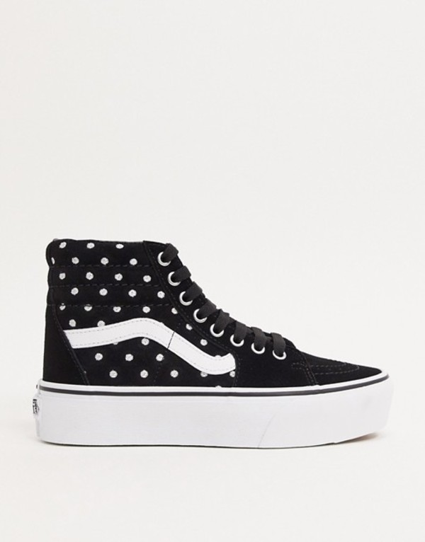 バンズ レディース スニーカー シューズ Vans SK8-Hi Platform 2.0 suede sneakers in polka dot Disneysally patchwor