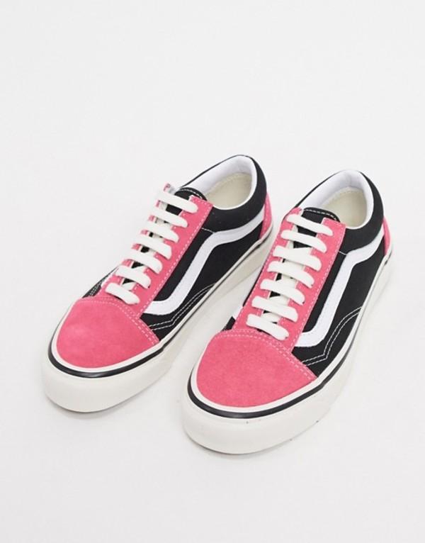 バンズ レディース スニーカー シューズ Vans Anaheim Old Skool 36 DX sneakers in pink/black Heather grey
