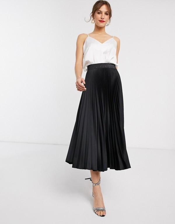 クローゼットロンドン レディース スカート ボトムス Closet London pleated skirt in black Black