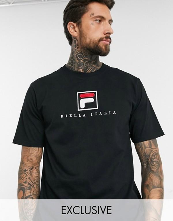 フィラ メンズ Tシャツ トップス Fila Blade archive logo t-shirt in black exclusive at ASOS Black