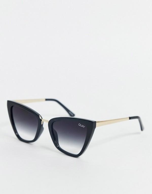 クアイオーストラリア レディース サングラス・アイウェア アクセサリー Quay Australia x J Lo Reina mini cat eye sunglasses in black Black