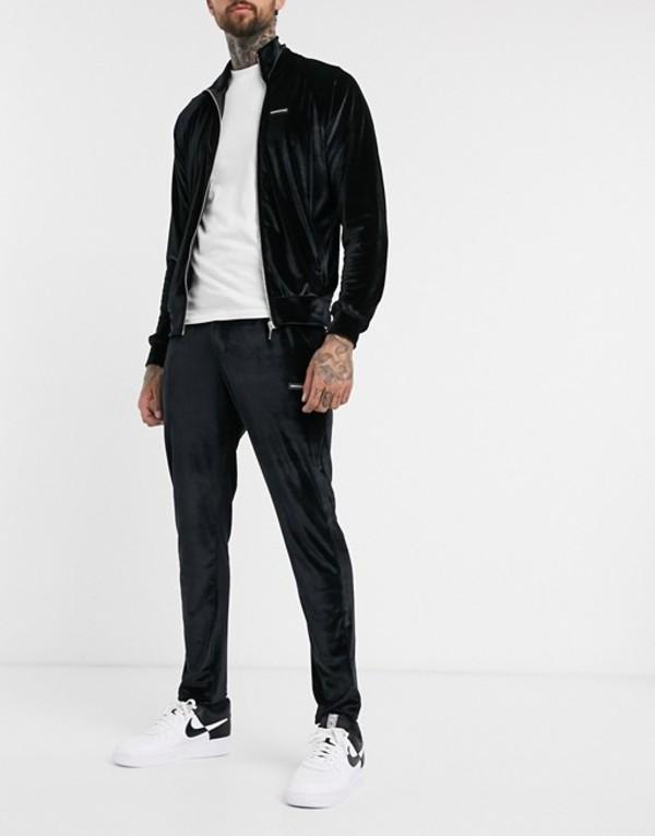 グッドフォーナッシング メンズ カジュアルパンツ ボトムス Good For Nothing velour sweatpants in black Black