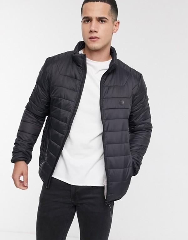 ル ブレーベ メンズ ジャケット・ブルゾン アウター Le Breve padded puffer jacket in black Black